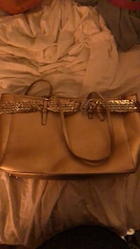 Women's brown leather tote bag Colleyville, 76034