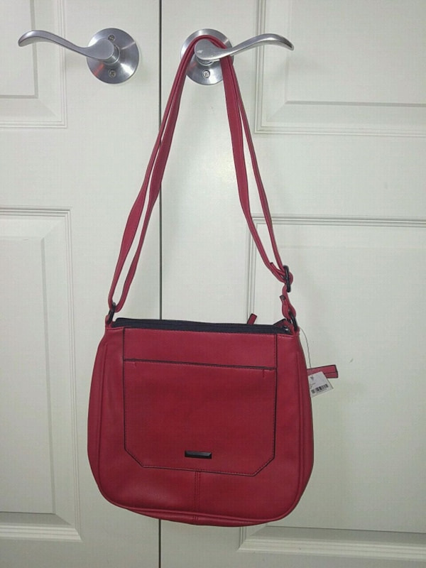e52038377c Used red leather 2-way handbag for sale in Calgary - letgo