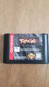 Primal Rage game for SEGA GENESIS. Dinosaur fighting Brampton, L6X 3A9