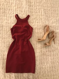 Burgundy Mini Party Dress