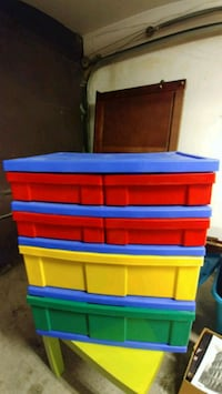 red, blue, and yellow plastic organizer Laval, H7X 3E4