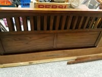 brown wooden bed headboard and footboard College Park, 20740