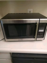 black and gray microwave oven Reston