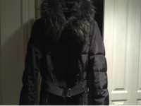 Like Brand New '' Cana-V Black Winter Coat with Real Fox Fur on hood which is removable. Pierrefonds-Roxboro