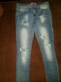 distressed blue-washed jeans San Martin, 95046