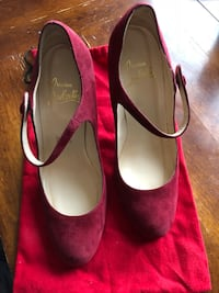 Christian louboutin red suede Mary Janes size 39 Calgary, T3C 0P3