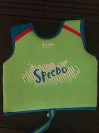 Green and blue swim vest for a kids