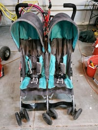 Stroller, for two children, everything works