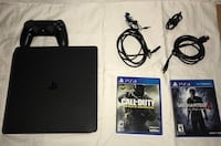 Slim ps4 with 2 games cords and controller Escondido, 92029