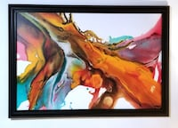 """Professionally Framed Canvas Art Piece Measures 53"""" by 37"""" Milton"""