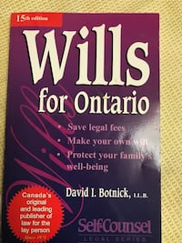 Wills for Ontario - 15th edition book  Toronto