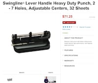 Swingline hole punch Yuma, 85364