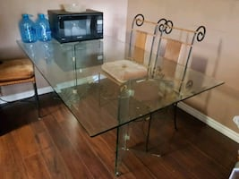 Glass Dining Table and 6 Seats