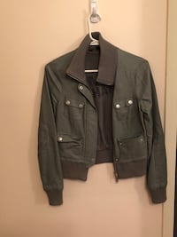 Grey Armani exchange leather jacket, xs Toronto