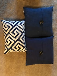 two blue and black throw pillows Omaha, 68182