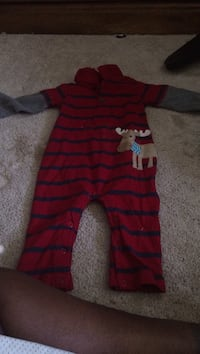 toddler's red and black striped footie pajama Winchester, 22601