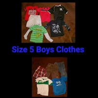three assorted color crew-neck shirts Los Angeles, 90002