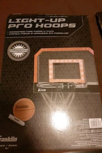 Light up basketball net.