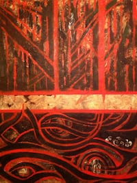 "Oil original painting 4x4 feet on wood ""roots"" Toronto, M6H 4C2"