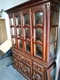 brown wooden china cabinet with cabinet Hampton, 23661