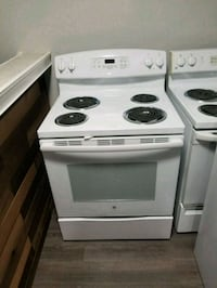 white and black electric coil range oven Pikesville, 21208
