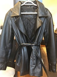 black leather zip-up jacket Burnaby, V5A 1C4