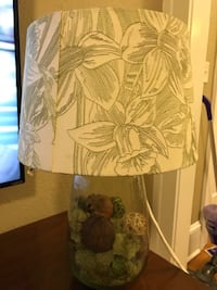 Pottery barn green glass lamp with embroidered shade  Jacksonville, 32205