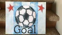 black and white soccerball painting Lethbridge, T1K 5W7