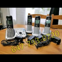 VTech CS6329-5 4-Handset Cordless Phone System w/ Answering Machine Brampton, L6Y 0M2