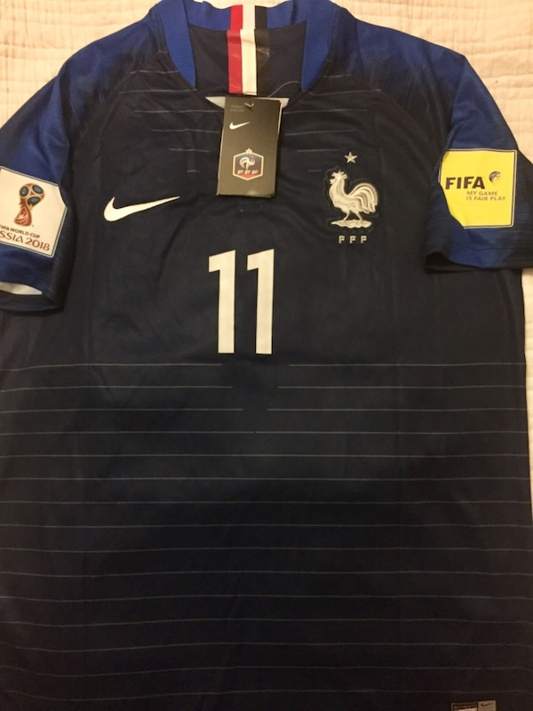 Brand new france 2018 world cup soccer / football jersey with tags