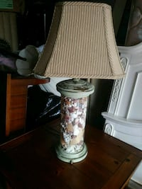 two white-and-brown table lamps Davie, 33314