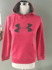 pink Under Armour pullover hoodie