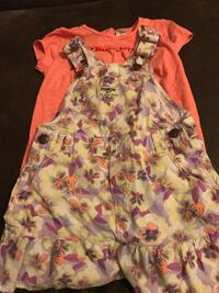 EUC Girls Oshkosh Overalls Dress and Tshirt, Size 3T Fort Atkinson, 53538