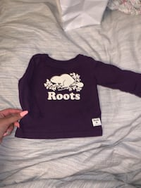 Roots purple long sleeve new 3-6 months  Toronto, M3N