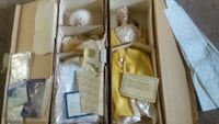 2 Franklin heirloom porcelain collectible dolls in Las Vegas, 89104