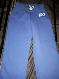 blue GAP track pants