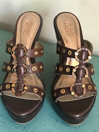 pair of brown leather open-toe sandals San Diego, 92101