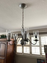 Painted 5 light chandelier