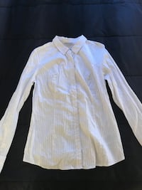 New with Tags Guess Brand Fashion White Button Down Shirt Women Large
