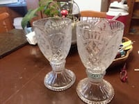 two clear cut glass candle holders Plaucheville, 71362