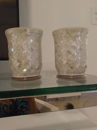 Glass candle holders ..set