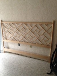 beige wooden headboard