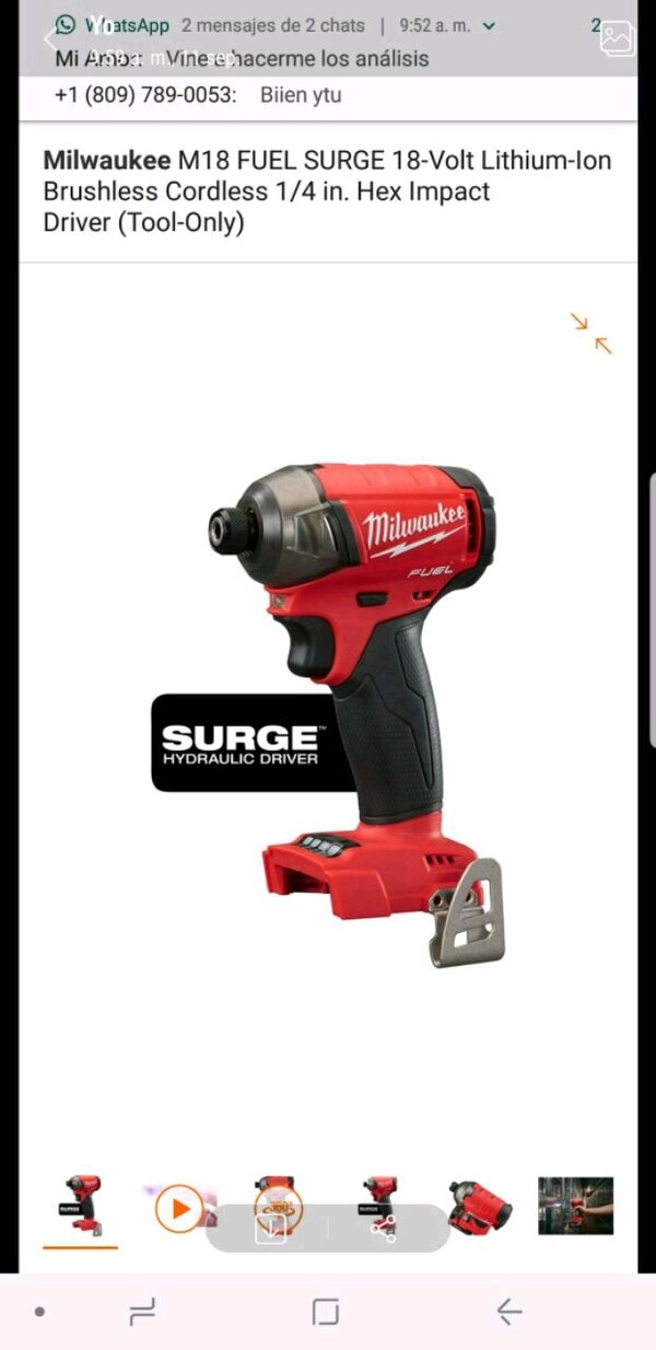 Used Red And Black Milwaukee Cordless Impact Wrench For Sale In Bronx