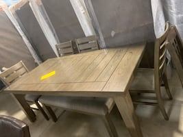 Bardstown dining table + bench