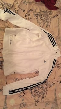 white and black adidas sweater  Surrey, V3S 4S5