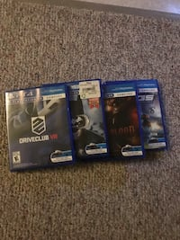 PlayStation VR With four games and controllers Morinville, T8R 1C7