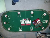 Poker table and chips Duncan