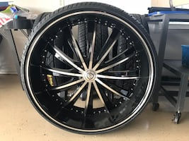 Brand new rims and tires there universal 5 lug and 3500 obo or trades