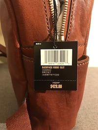 Authentic FRYE Leather Backpack - Cognac Brown Silver Spring, 20910