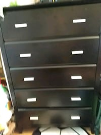 black wooden 5-drawer chest Attleboro, 02703